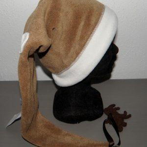 Bonnet lutin camel et blanc taille 56-2607