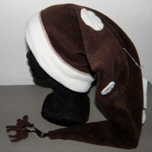 Bonnet lutin chocolat et blanc taille 52-2587
