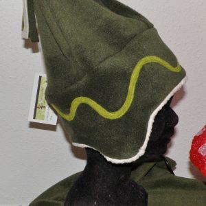 Bonnet femme taille 56/58 sapin anis et mouton écru-2859