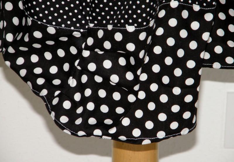 Robe en coton pulpe noir et vert anis T38/40 (015)-3130