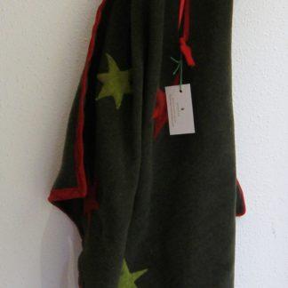 Couverture polaire bébé fille mousse et rouge + écossais-5869