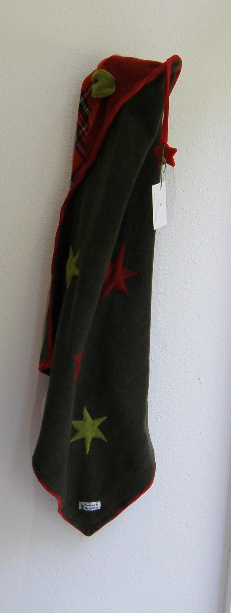 Couverture polaire bébé fille mousse et rouge + écossais-5870