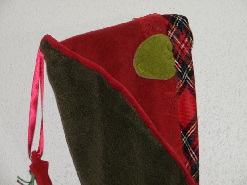 Couverture polaire bébé fille mousse et rouge + écossais-5872
