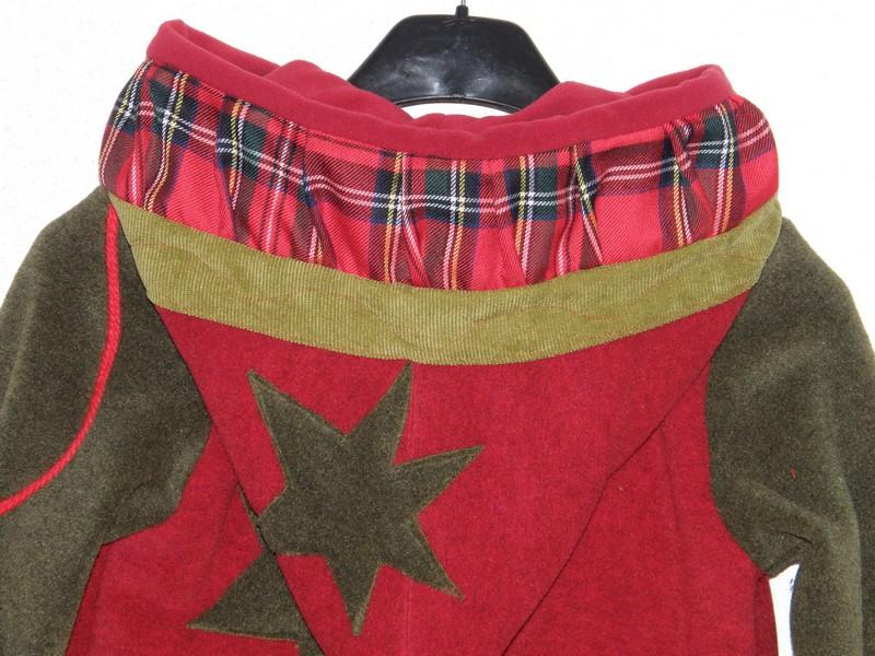 Veste polaire lutin rouge et mousse +écossais-5886