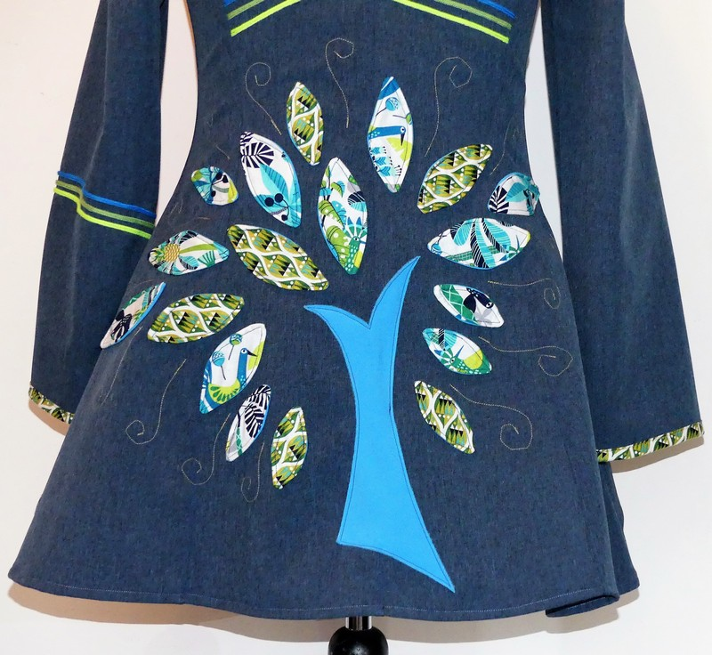 Veste lutin princesse en Softshell bleu jean taille 42/44