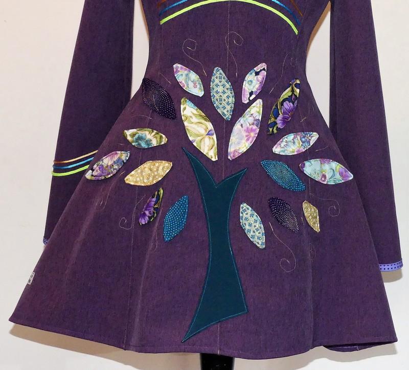 Veste lutin princesse en Softshell violet chiné +coton indien T 38/40