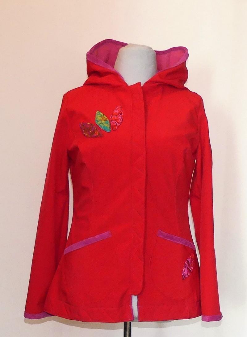 Veste princesse en softshell version courte rouge T42/44