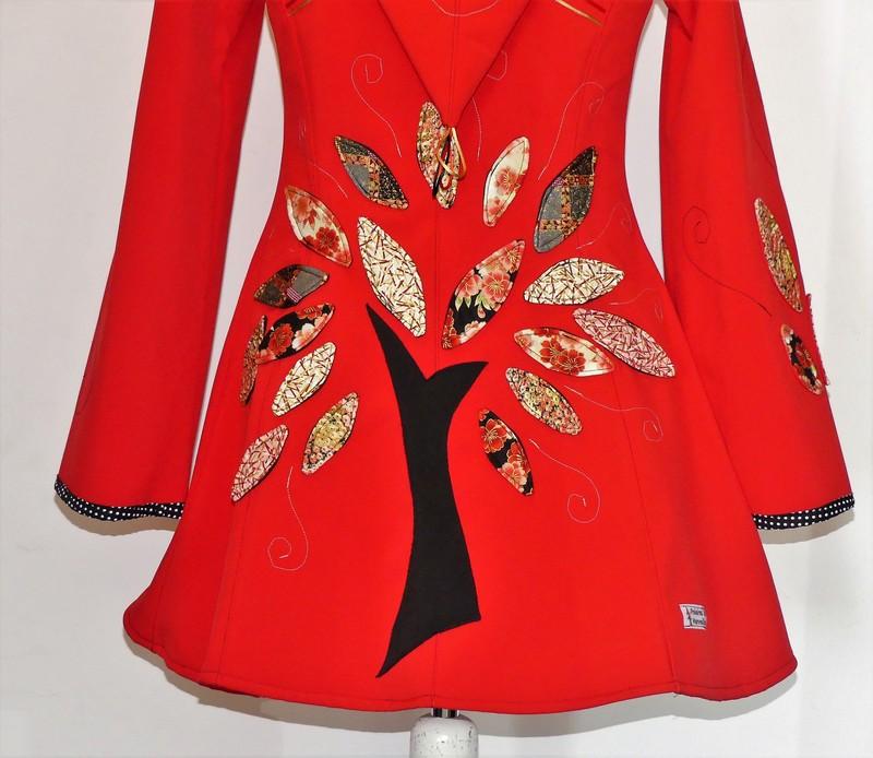 Veste princesse lutin en softshell rouge + coton Japonais 40/42