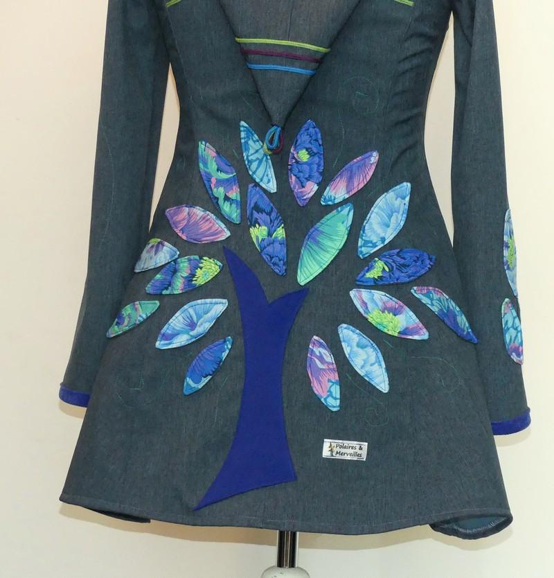 Veste princesse en softshell bleu jean et coton «camaïeu bleu»T38/40